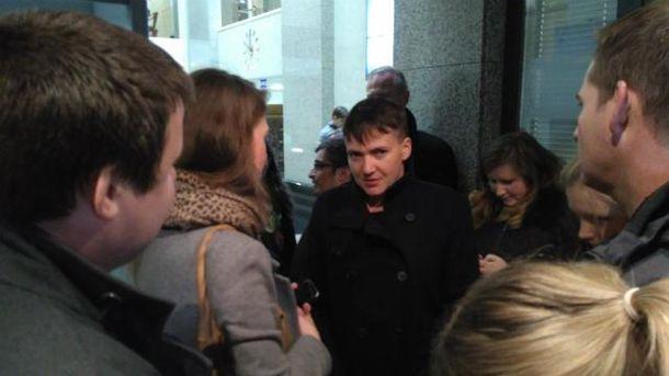 Савченко в Москве охотно общались с журналистами