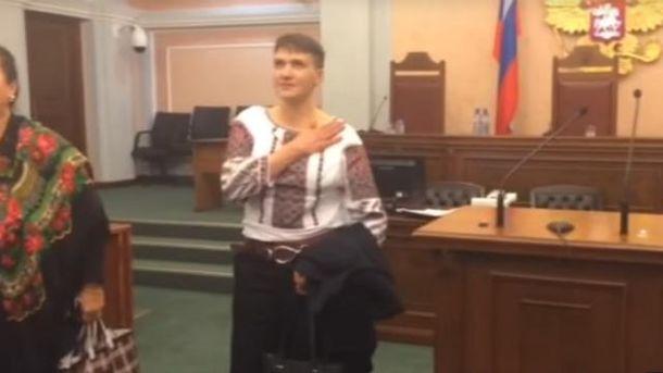 Савченко не стрималась в залі російського суду