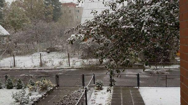 Первый снег в Славутиче