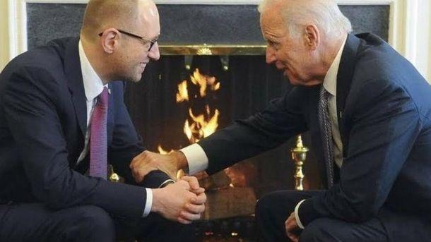 Яценюк и Байден