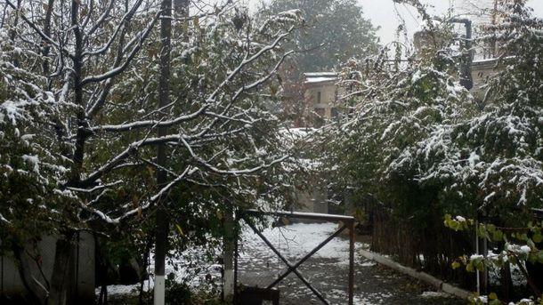 Снег в Одесской области