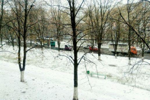 Первый снег в Харькове