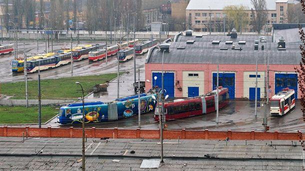 Трамвайное депо в Киеве