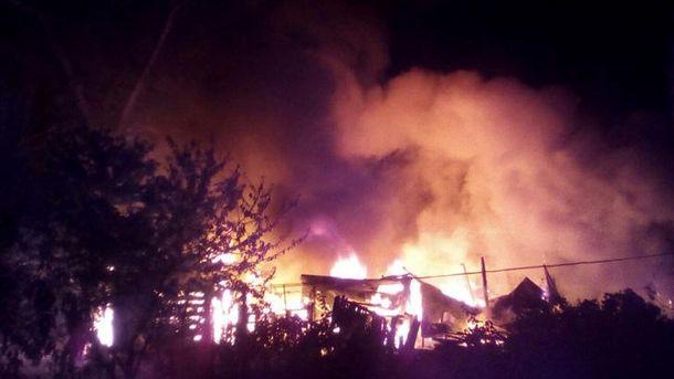 Пожар на острове Хортица