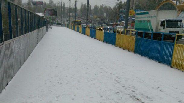 Засніжений Київ