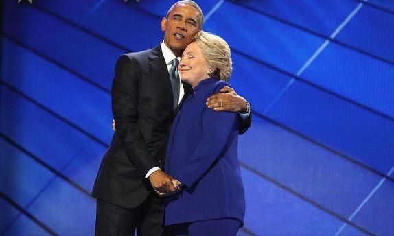 Обама та Клінтон