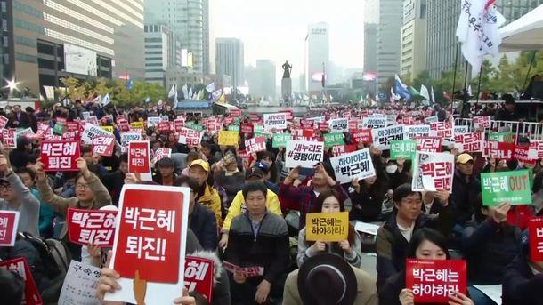 Протесты в Южной Корее