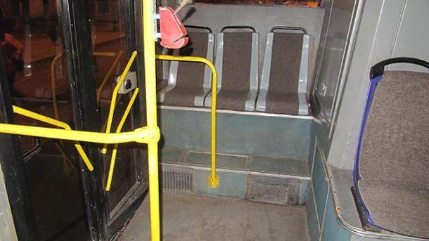 Троллейбус, в котором произошла трагедия