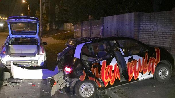 У результаті ДТП постраждали авто поліції та машина однієї з піцерій