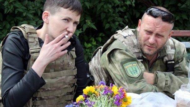 Надія Савченко та Дмитро Ярош
