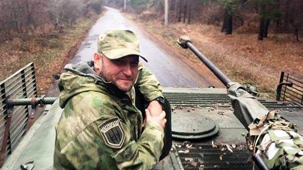 Дмитрий Ярош в зоне АТО