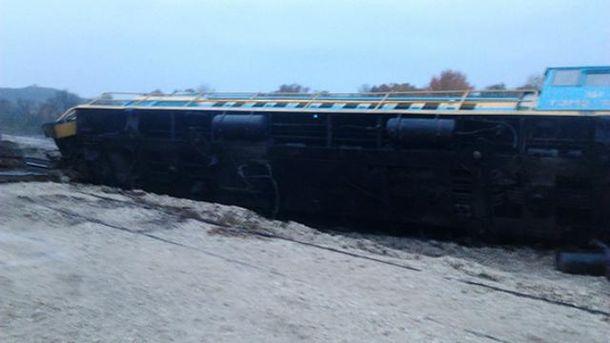 Через п'яного машиніста потяг зійшов з рейок
