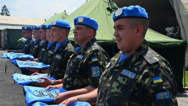 Украинские военные в Конго