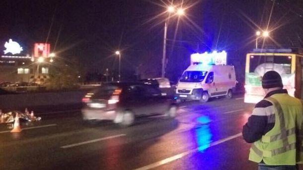 Последствие жуткой аварии в Киеве