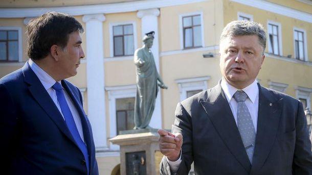 Порошенко вперше прокоментував відставку Саакашвілі