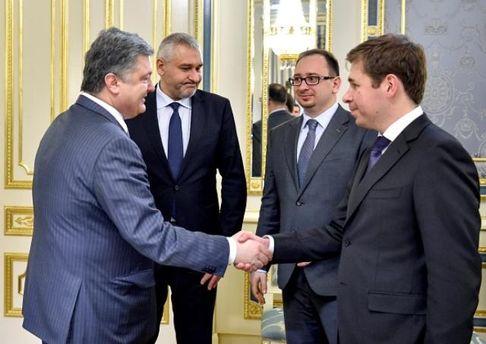 Ілля Новіков, Микола Полозов та Марк Фейгін на зустрічі з Президентом України