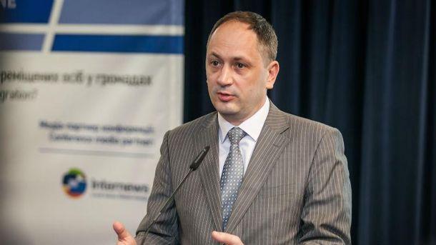 Министр по вопросам временно оккупированных территорий Вадим Черныш.