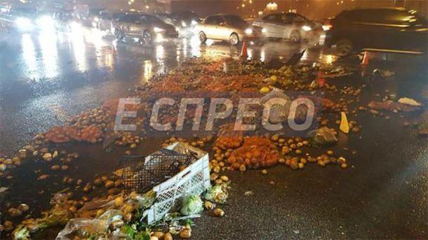 Результат аварии в Киеве