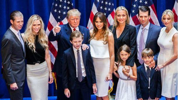 Дональд Трамп и его большая американская семья