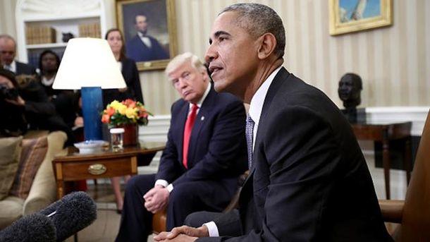 Барак Обама встретился с Дональдом Трампом