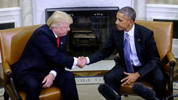 Барак Обама і Дональд Трамп