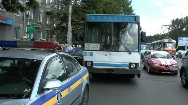 В Днепре снова пострадал троллейбус (иллюстрация)