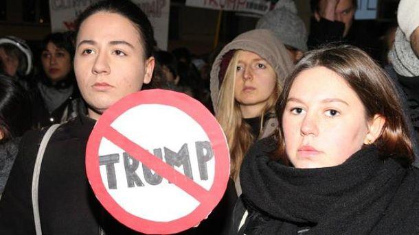 Проти Трампа-президента  масово виступають американці