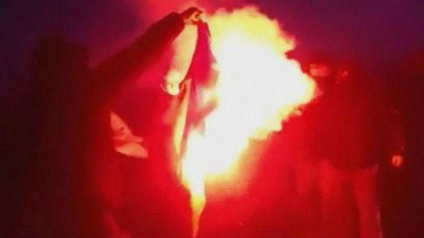 Сожжение флага в Варшаве