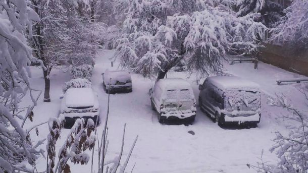 Снегопад в Ивано-Франковске