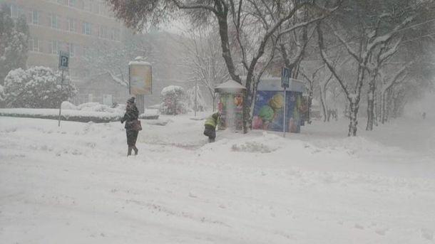 Тернопольщину засыпало снегом