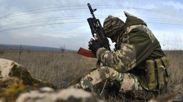 Український солдат на передовій