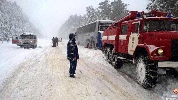 Снегопад на Тернопольщине