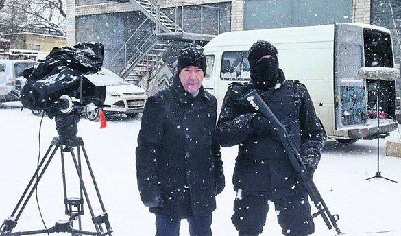 Олексій Горбунов на зйомках фільму