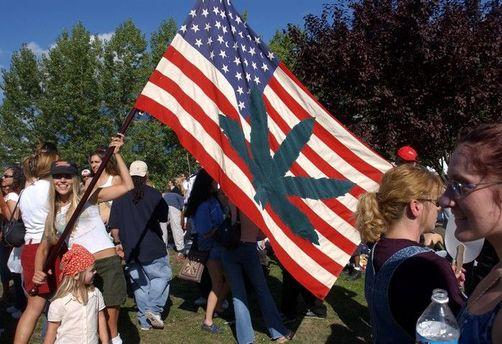США. Митинг за легализацию марихуаны