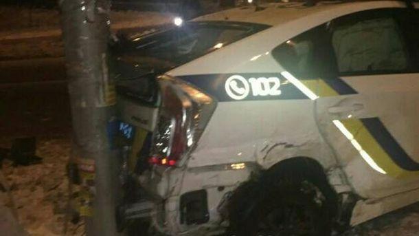 Патрульні вкотре потрапили в аварію