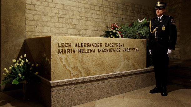 Поховане президентське подружжя Качинських