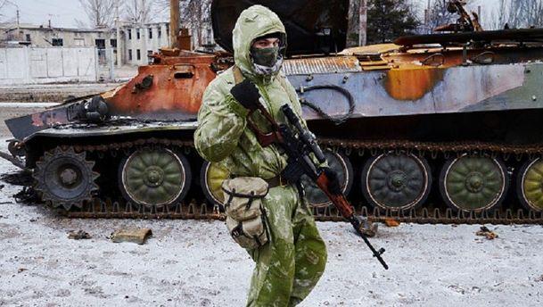 Пророссийский сепаратист в Углегорске