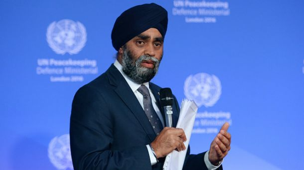 Министр обороны Канады Харджит Саджан