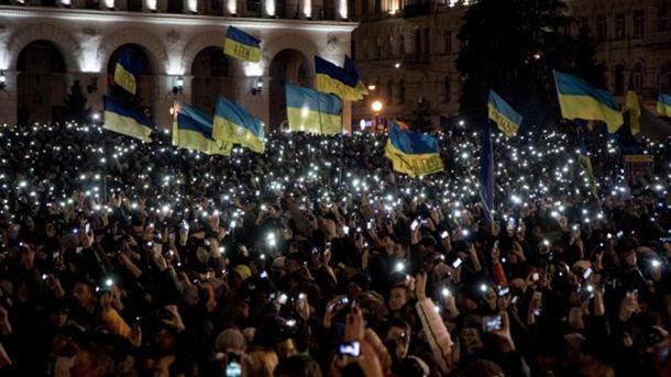 Украинцы три года назад вышли на акцию протеста под лозунгом