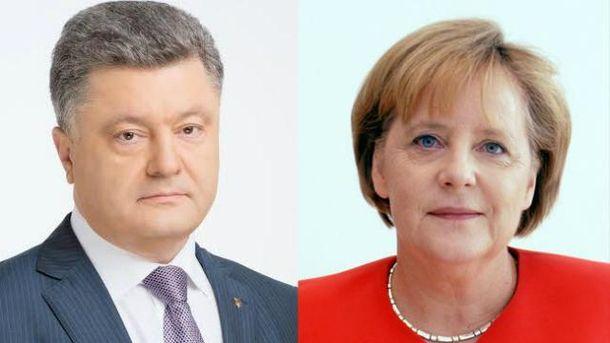 Порошенко поговорил с Меркель