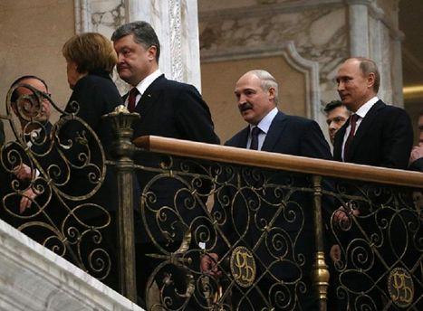 Порошенко, Путин, Меркель