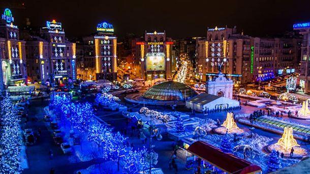 Праздничный новогодний Киев