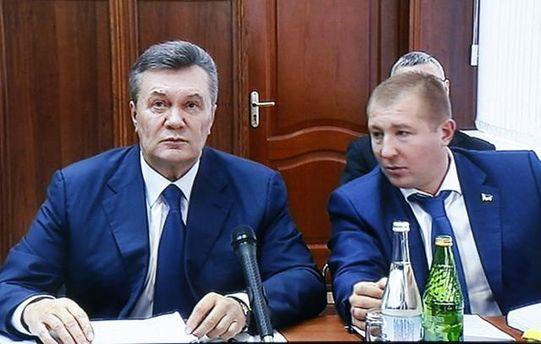 Віктор Янукович з адвокатом