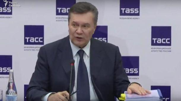Янукович заговорил о возвращении Донбасса