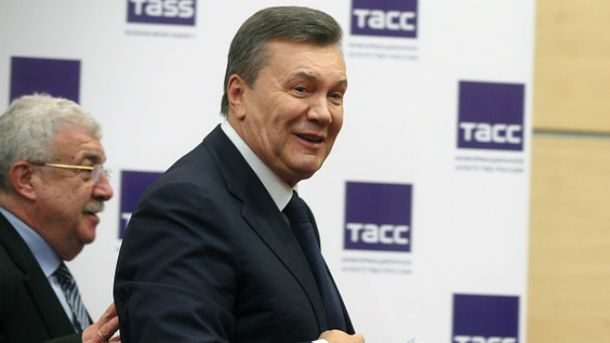 После допроса Янукович даже расщедрился на пресс-конференцию