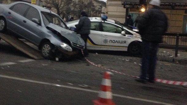 Авария с полицейскими в Днепре