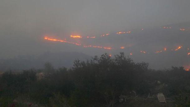 Ужасные пожары в Израиле