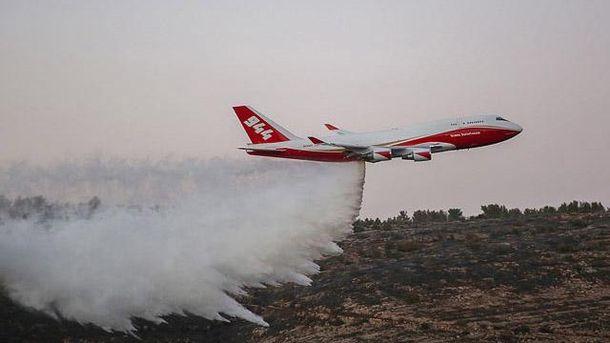 Тушение пожара у населенного пункта Натаф