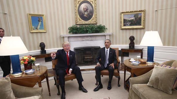 Дональ Трамп і Барак Обама