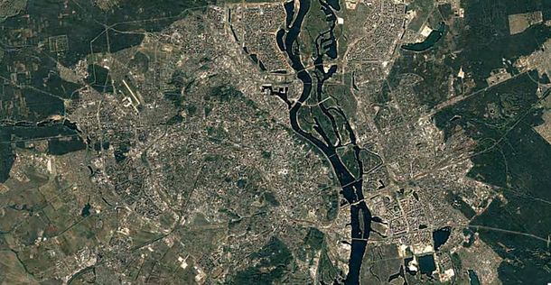 Киев  	 Google Earth